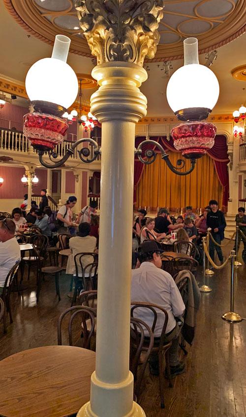 Old West Light fixture in The Golden Horseshoe Disneyland