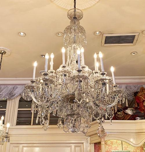 Crystal chandelier in Jewelry Shop on Main Street USA in Disneyland