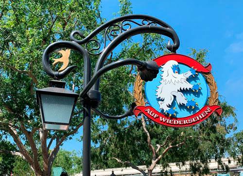 Light fixture near Matterhorn Bobsleds in Fantasyland Disneyland