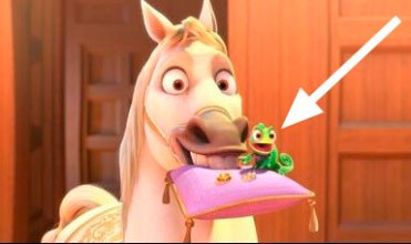 Pascal and Maximus in animated film Tangled