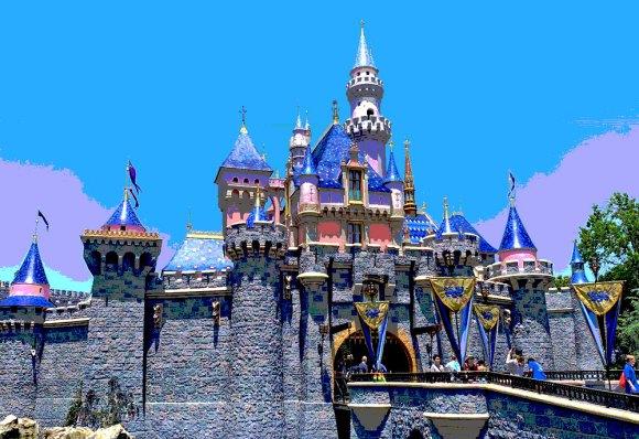NEW refurbished Sleeping Beauty Castle in Disneyland California 2019
