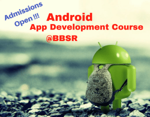 Android Training Course in Bhubaneswar