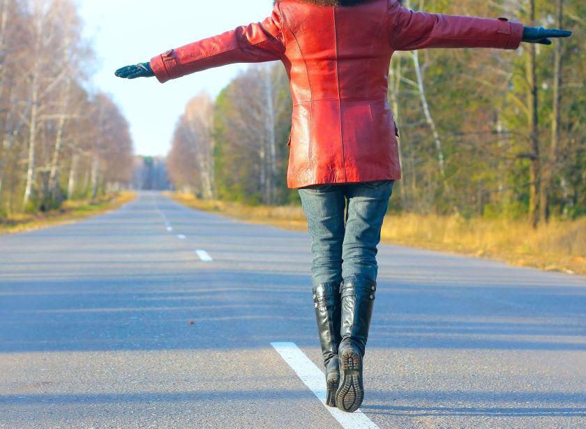 Walking on road copy
