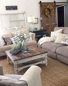 20 + Home Decor Ideas Living Room Rustic Farmhouse Style Ideas 30