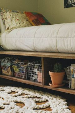 15+ Storage Ideas For Small Spaces Bedroom 16