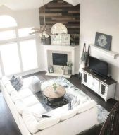23 + Reason You Didn't Get Farmhouse Decor Living Room Rustic Wall 22