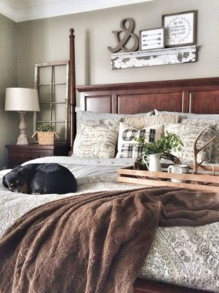 25 + That Will Motivate You Master Bedroom Ideas Rustic Farmhouse Style Bedding 3