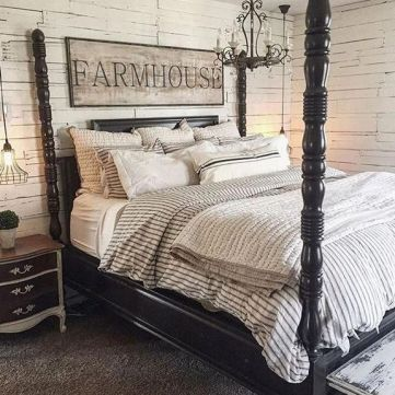 25 + That Will Motivate You Master Bedroom Ideas Rustic Farmhouse Style Bedding 35