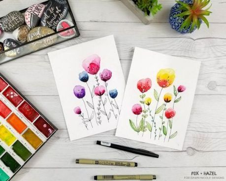 33 + Most Popular Ways To Watercolor Paintings Easy Step By Step Flower 24