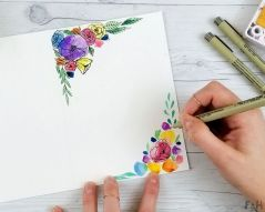 33 + Most Popular Ways To Watercolor Paintings Easy Step By Step Flower 39