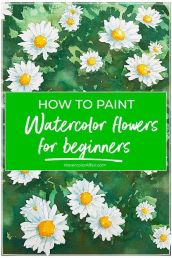 33 + Most Popular Ways To Watercolor Paintings Easy Step By Step Flower 48