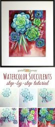 33 + Most Popular Ways To Watercolor Paintings Easy Step By Step Flower 50