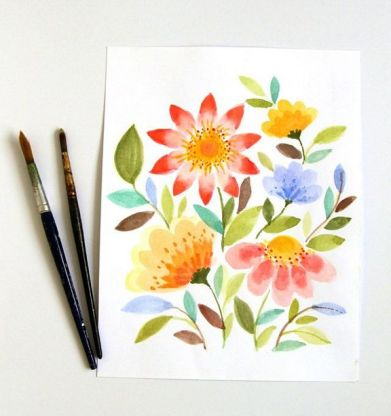 33 + Most Popular Ways To Watercolor Paintings Easy Step By Step Flower 77
