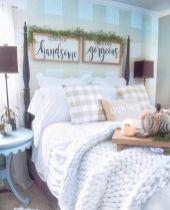 50+ Unbelievable Master Bedroom Ideas Rustic Farmhouse Style Decor 2