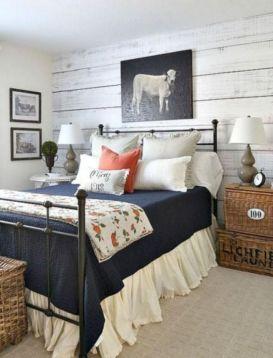 50+ Unbelievable Master Bedroom Ideas Rustic Farmhouse Style Decor 65