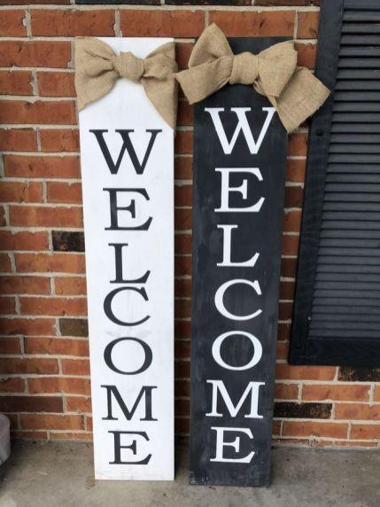 The War Against Welcome Sign Front Door 232
