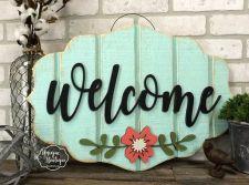 The War Against Welcome Sign Front Door 31