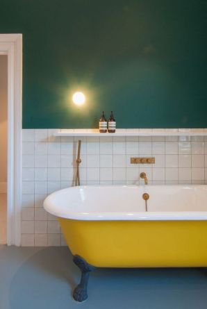 35+ The Appeal Of Yellow Bathroom Decor 90