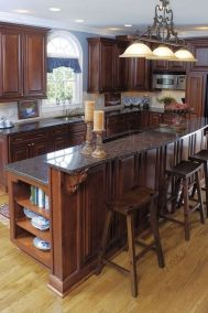 40+ Cherry Wood Kitchen Cabinets Options 237