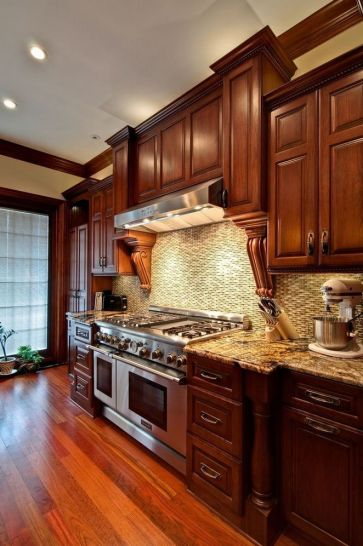 40+ Cherry Wood Kitchen Cabinets Options 271