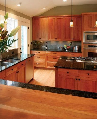 40+ Cherry Wood Kitchen Cabinets Options 304