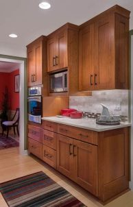 40+ Cherry Wood Kitchen Cabinets Options 8