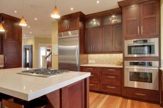 40+ Cherry Wood Kitchen Cabinets Options 93