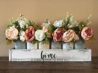 40+ Farmhouse Floral Arrangement , Ideas 233