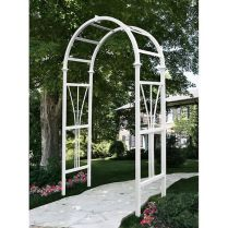 35+ Top Guide Of Metal Garden Arbor Trellis With Gate Scroll Design Arch Climbing Plants 110