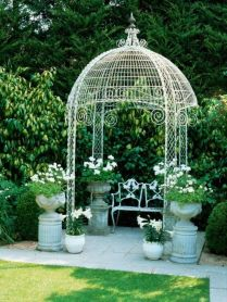 35+ Top Guide Of Metal Garden Arbor Trellis With Gate Scroll Design Arch Climbing Plants 139