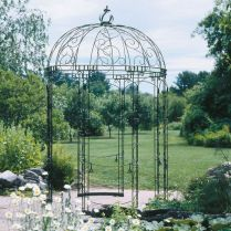 35+ Top Guide Of Metal Garden Arbor Trellis With Gate Scroll Design Arch Climbing Plants 30