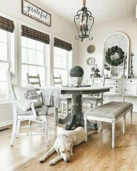 37+ Instant Solutions For Farmhouse Dinning Room 61
