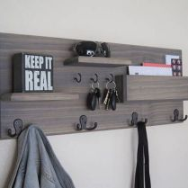 37+ The Nuiances Of Entryway Organizer Mail Key Holder Coat Rack Key Hooks Wall Coat Hook Shelf 51