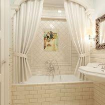 37+ Top Bathroom Drapery Ideas Secrets 21