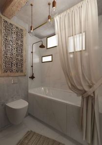 37+ Top Bathroom Drapery Ideas Secrets 61