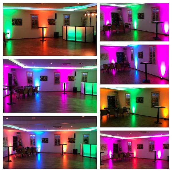 Beispiele für Uplighting der DJ Agentur Hamburg