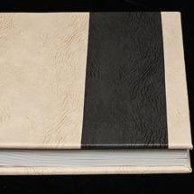 05.EAlbum Digital Nunta 30x30 cm. Piele ecologica alba + gri floral + fotografie