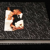 09.IAlbum Digital Nunta 30x30 cm. Piele ecologica alba + gri floral + fotografie