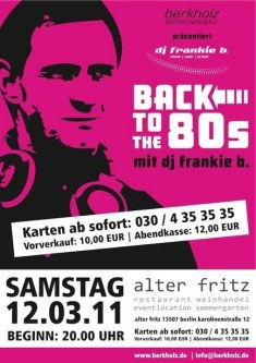 2011 - 12.03. Back to the 80s Vol. 1 Alter Fritz