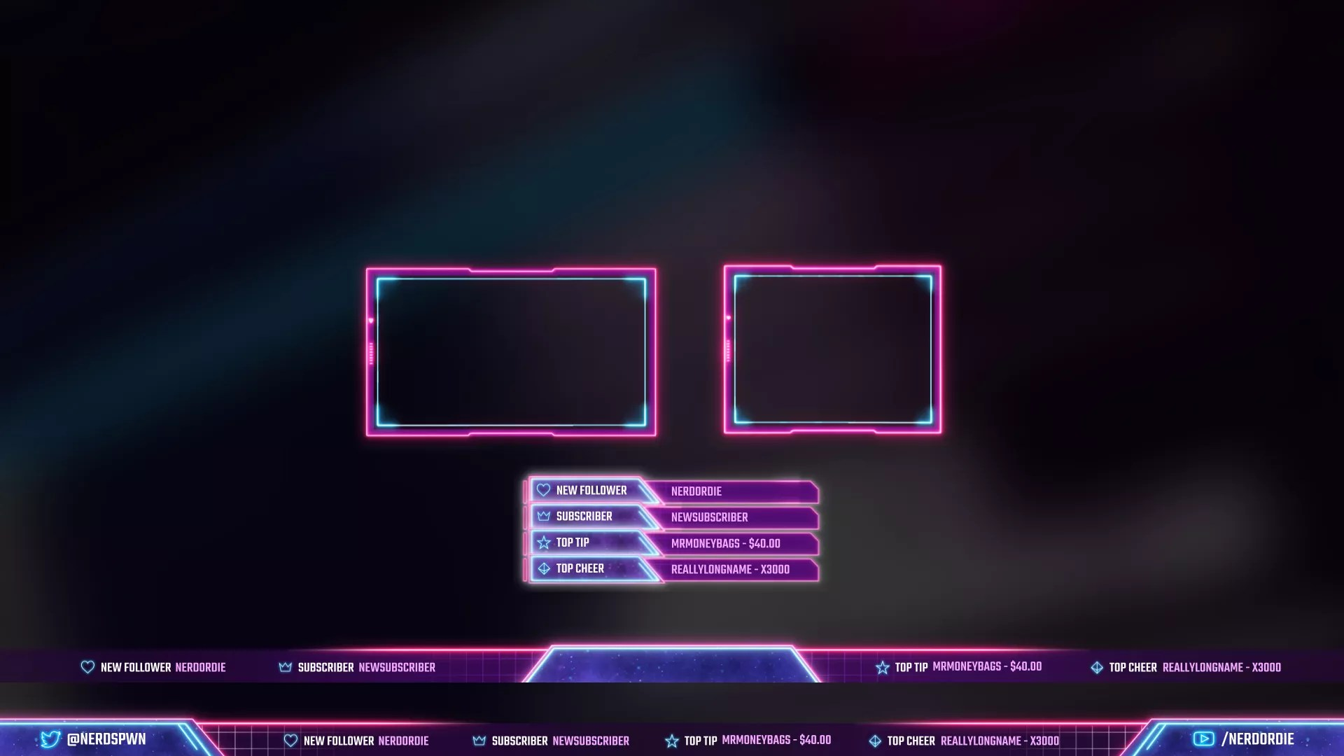 Twitch Overlays Templates And Free Downloads Nerd Or Die