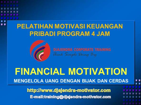 FINANCIAL MOTIVATION TRAINING
