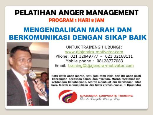 ANGER MANAGEMENT TRAINING DJAJENDRA