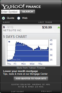 Yahoo! Finance - NetSuite