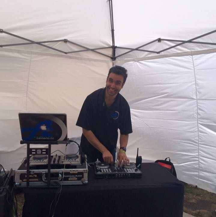 DJ Alex Reyes performing at a Family Event
