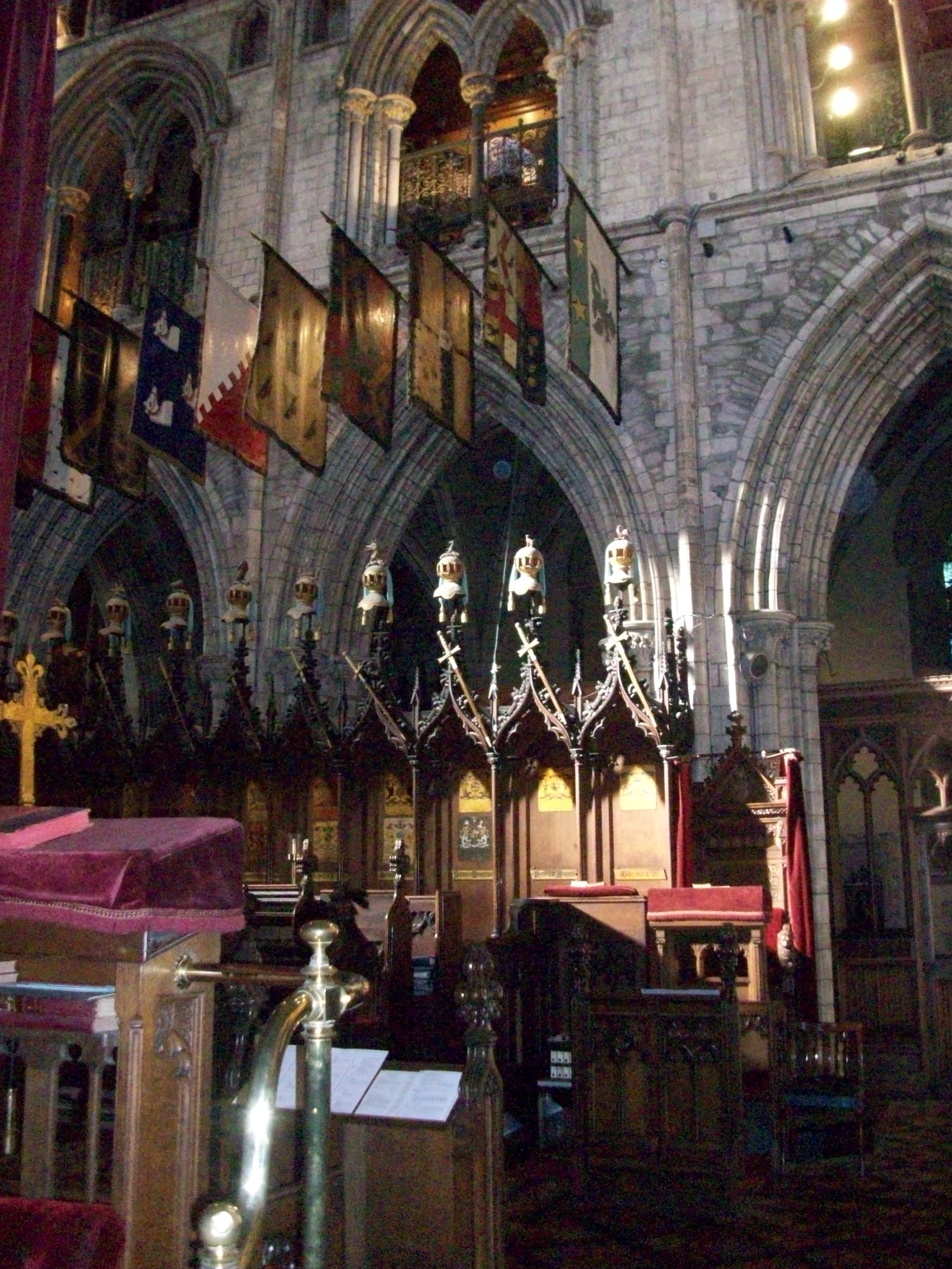 St. Patrick's Cathedral Choir Stalls and Organist