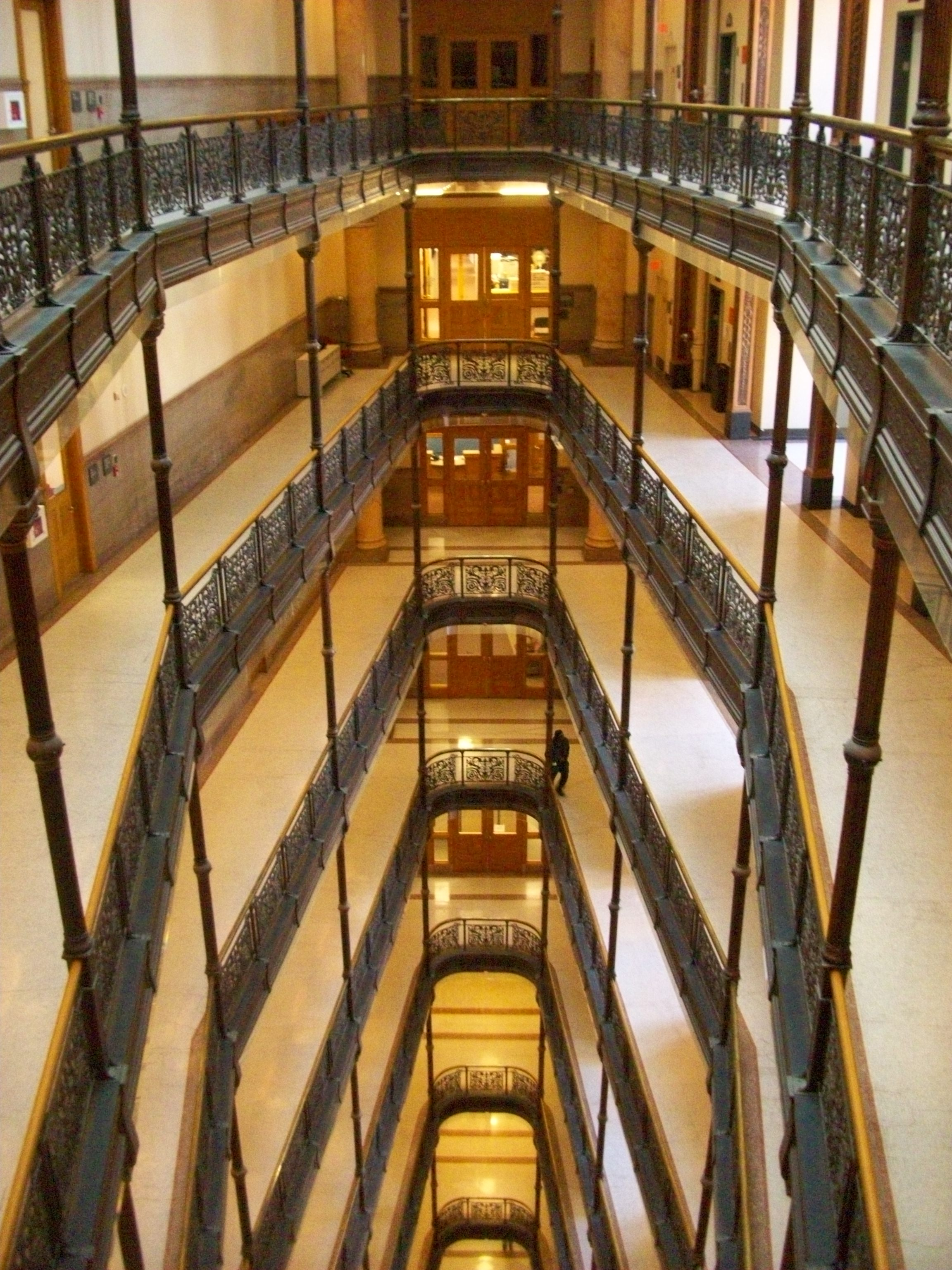 Milwaukee City Hall Atrium Looking Down from the 8th Floor
