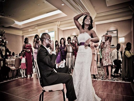 Waldorf Astoria Wedding Bouquet + Garter