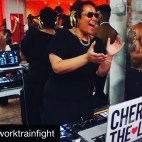 DJing for Work Train Fight NYC FIGHT NIGHT