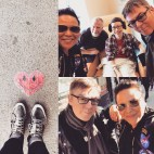 The Smiths and D. A. R. K.'s bass player, my dear friend, Andy Rourke, and I visit another dear friend sitting in my old Room 14 chemo chair at Sloan Kettering. Surprise style!