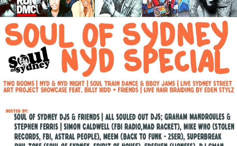 DJ CMAN @ SOUL OF SYDNEY NYD SPECIAL – 1ST JANUARY 2015